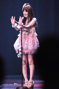 A member of the pop group AKB48 (photo by Dennis Amith)