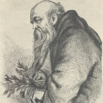 """A sketch entitled """"Friar Laurence gathering herbs"""" from Mary Evans Picture Library"""